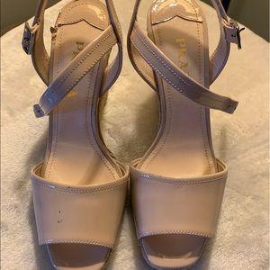 Prada espadrilles sz 36 nude beige patent leather